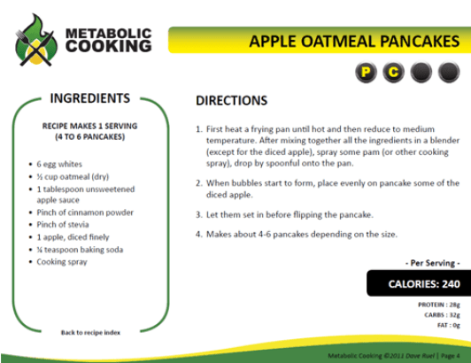 Metabolic meal_ applepancakes