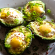 Eggs and avocados in an appetizing keto dish.