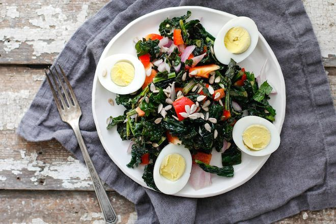 Massaged Kale Salad, three ways | Nutrition Stripped, vegan cesar kale salad, superfood kale salad, light cobb kale salad