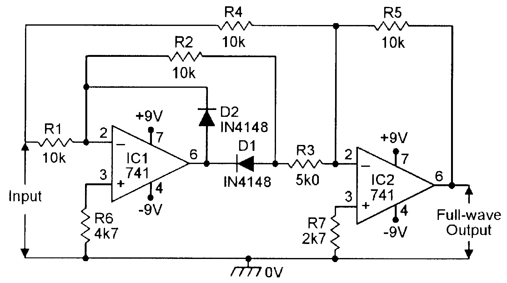 Circuit Diagram Of 741 Op Amp