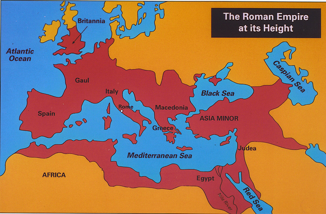 Image result for peak of roman empire map