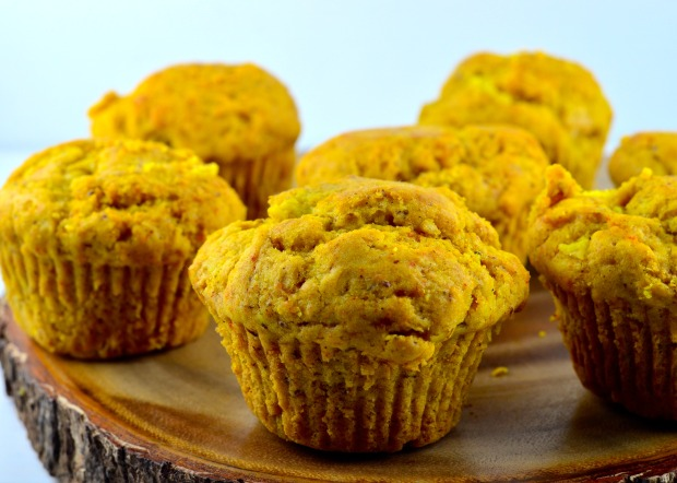 ginger pear turmeric muffin