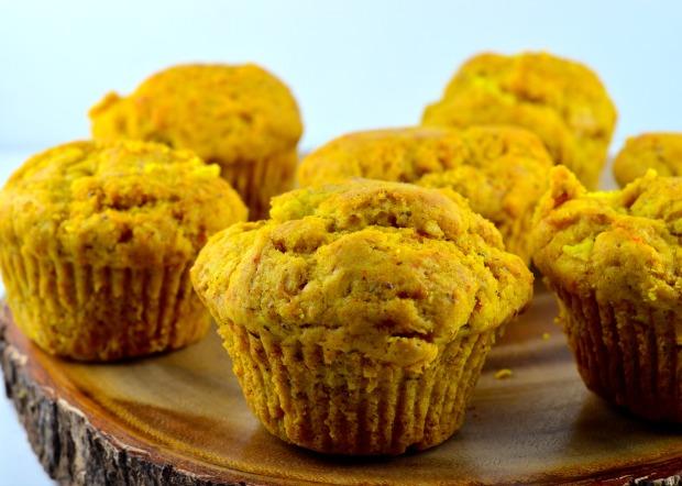 ginger pear turmeric muffin
