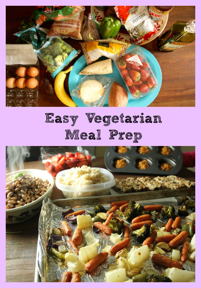 Easy Vegetarian Meal Prep www.nuttynutritionandfitness.com