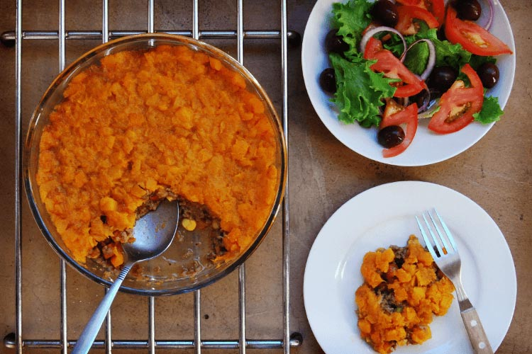nuveg cottage pie with butternut