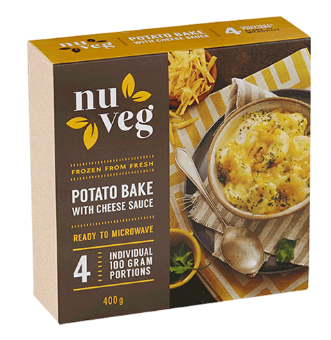 Nuveg frozen vegetables potato bake