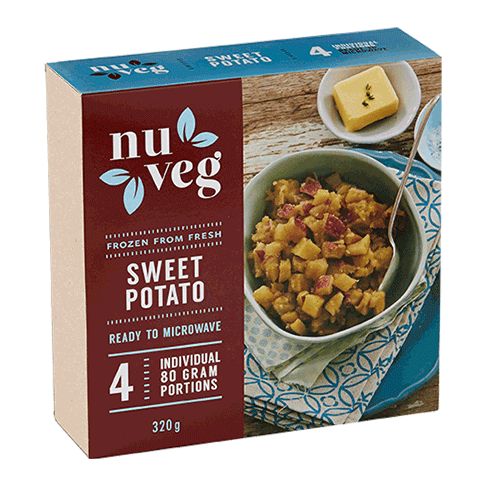 Nuveg frozen vegetables sweet potato