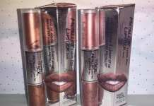 Touch in Sol Rossetti Metallist Liquid Foil Lipstick Duo