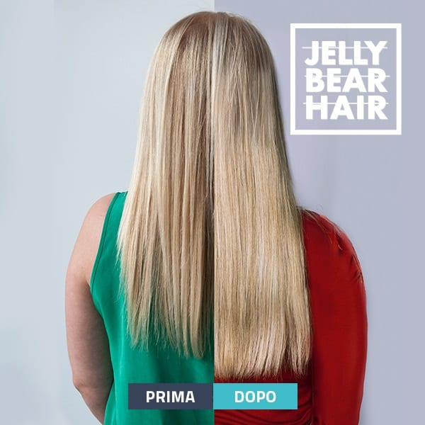 Jelly Bear HairPrima e Dopo