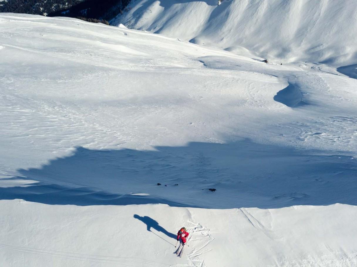 Abseits der Skipisten im Gebiet Arosa Lenzerheide