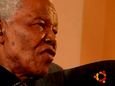 Nelson Mandela in an Ubuntu Dapper example video