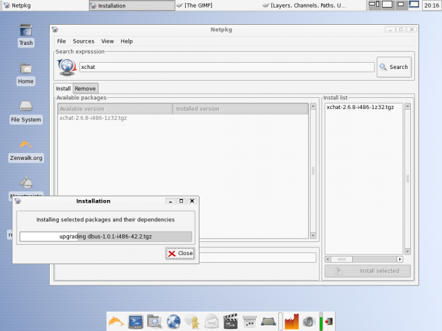 Zenwalk netpkg GUI