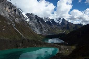 Tres Lagunas - Siula Geçidine tırmanırken