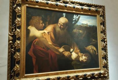 Galerie des Offices le Sacrifice d'Isaac du Caravage