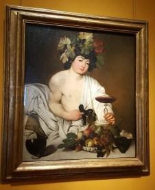 Galerie des Offices Florence Bacchus du Caravage