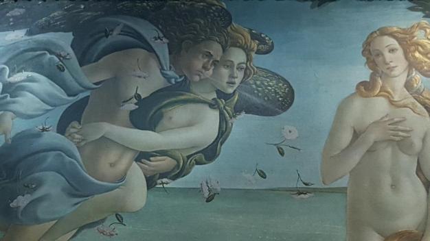 zoom La Naissance de Venus de Botticelli