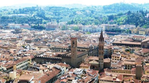 Lungarno Bargello Vue de la tour du Palazzo Vecchio