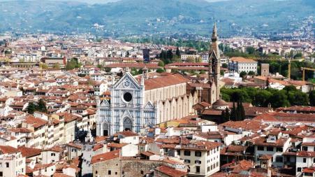 Lungarno Santa Croce vue de la tour du Palazzo Vecchio