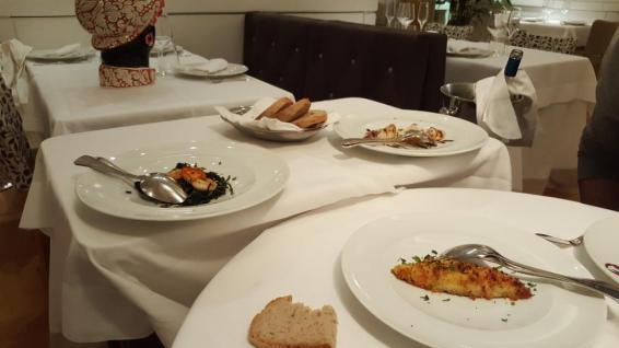 Sea Food Crab entrées gasronomie romaine
