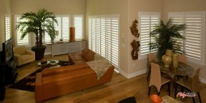 PolyCore Shutters - Polycore shutters in a Castle Rock, Colorado family room and nook