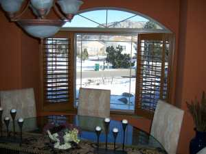 normandy shutters with open arch in Denver, CO