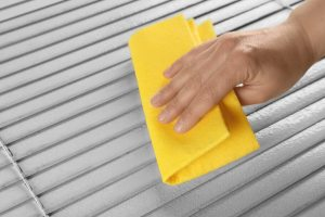 How to clean faux wood blinds