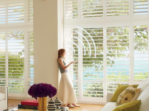 Hunter Douglas PowerView Motorized Shutters in Colorado