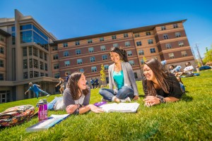 female college students on campus