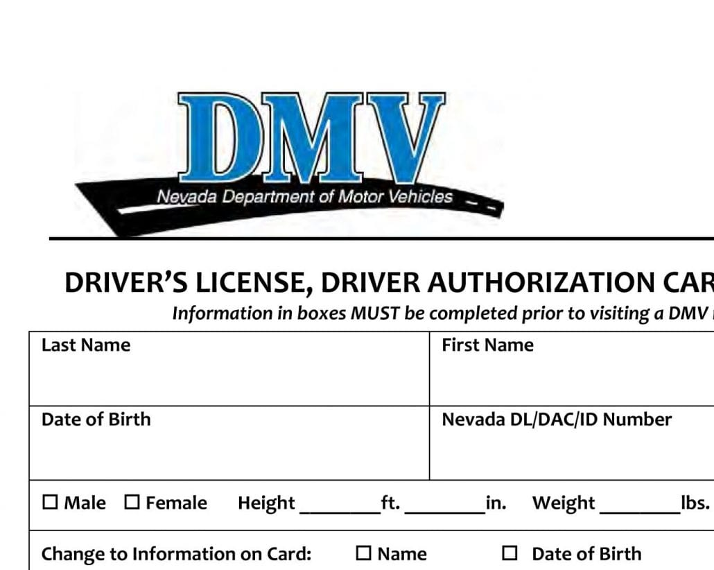 License Drivers Moving Nevada