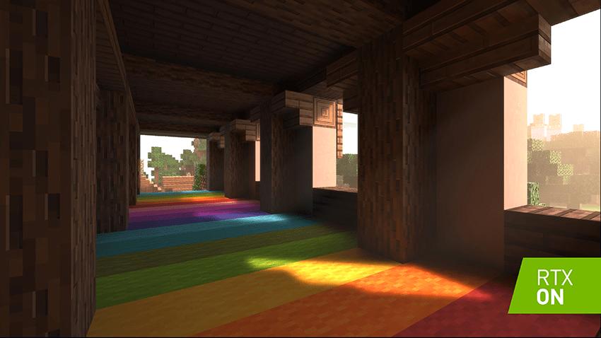 This image has an empty alt attribute; its file name is minecraft-rtx-dxr-ray-tracing-002-on-850px.png