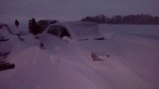 Сутки в снежном плену