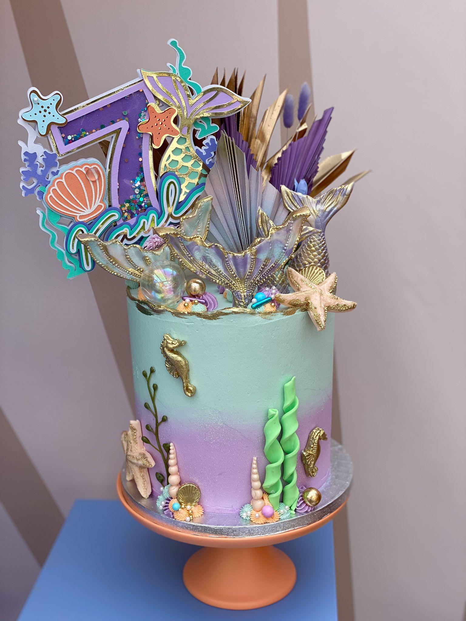 mermaid cake 2