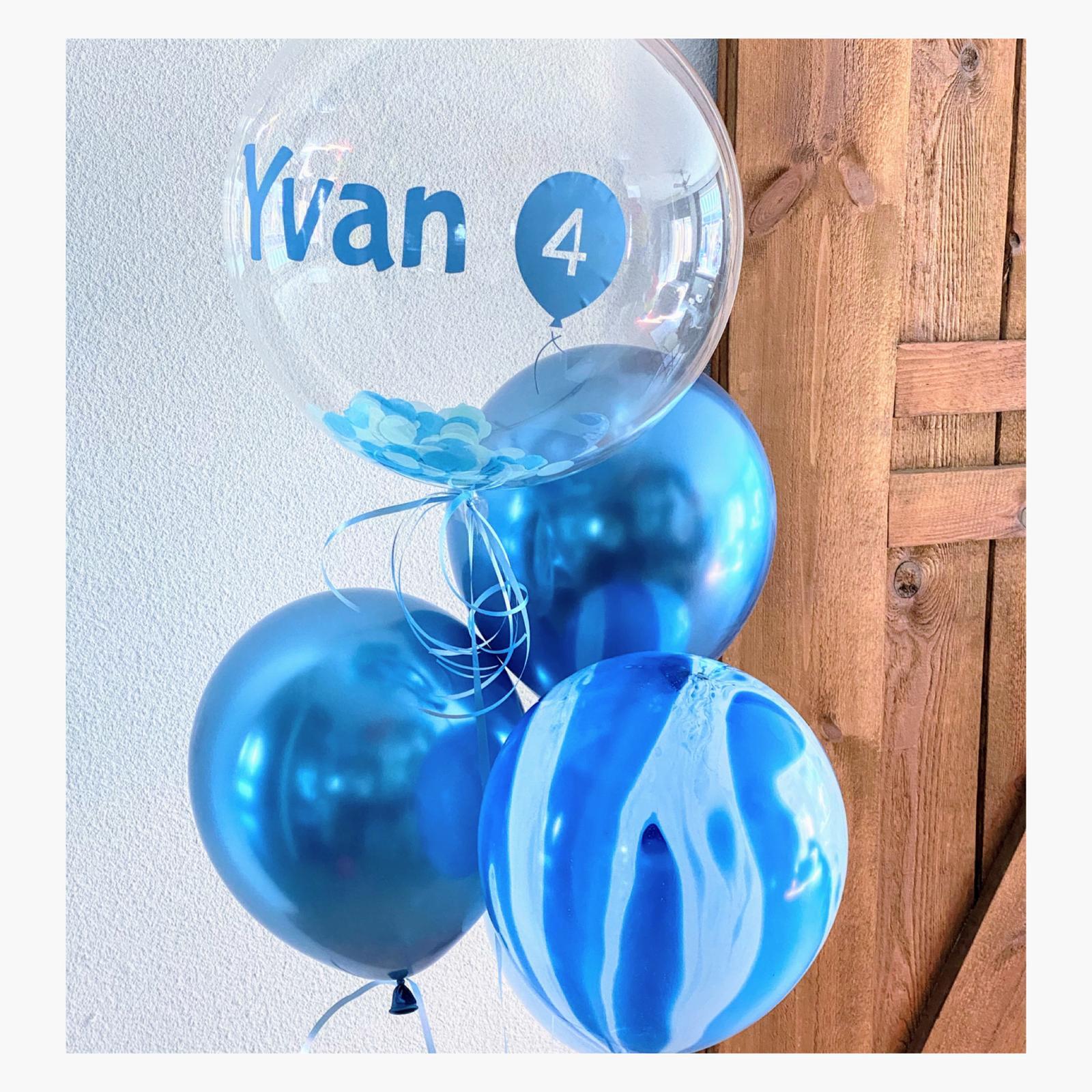 chrome blauw ballon