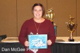 Stephanie Anderline received an Individual Recognition award for her work with scoring.