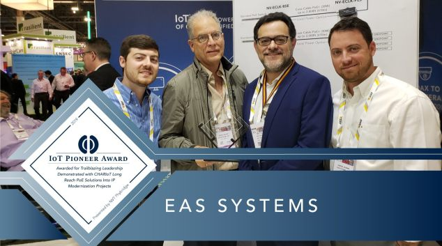 EAS Systems Wins the IoT Pioneer Award from NVT Phybridge