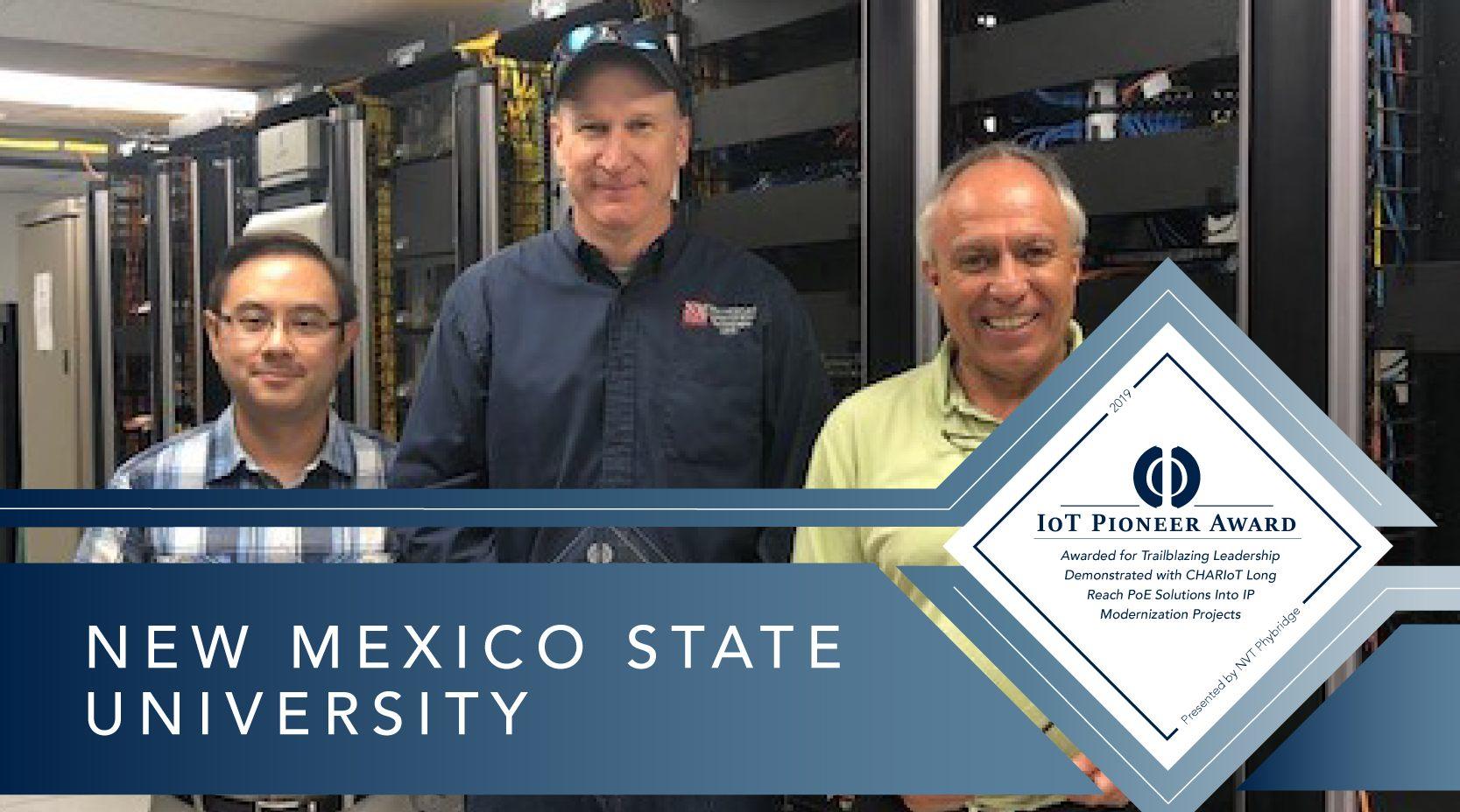 Nmsu Communication Team Wins The Nvt Phybridge Iot Pioneer Award