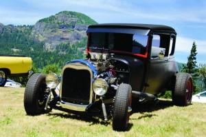 Vintage wheels at Bonneville Gorge Days