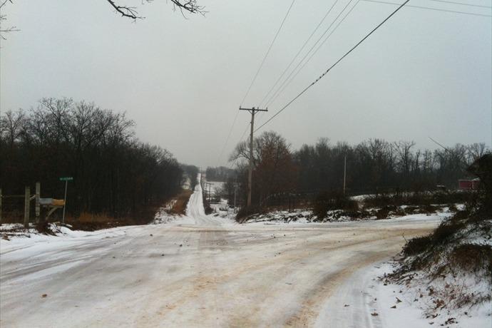 gentry school bus roads ice slick snow street icy bus routes_5520640995373761660
