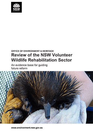 Volunteer wildlife rehabilitators and veterinary practitioners make a valuable contribution to our community.
