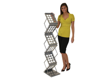 portable literature stands for sale
