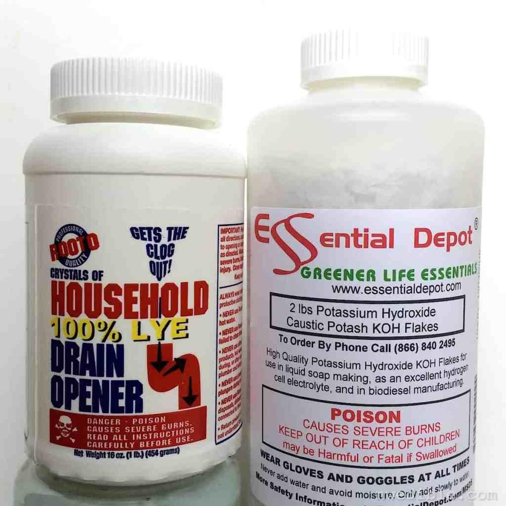 Potassium hydroxide v sodium hydroxide