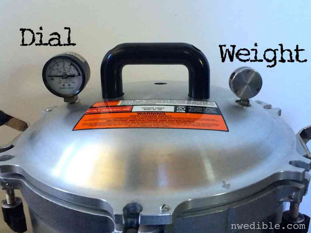 Dial and Weight on Pressure Canner