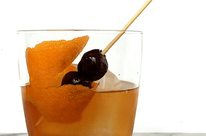 Maple and Spice Old Fashioned Cocktail for Winter