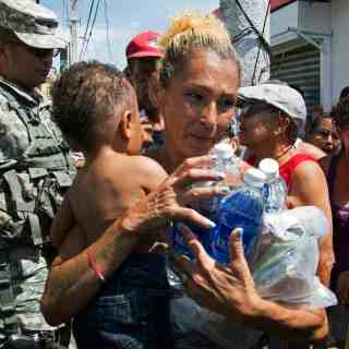 Water and Food to Puerto Rico