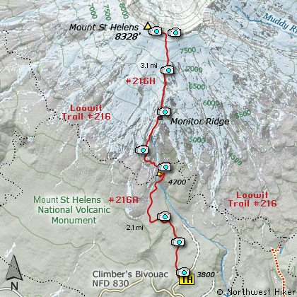 Mt. Saint Helen's Trail Map