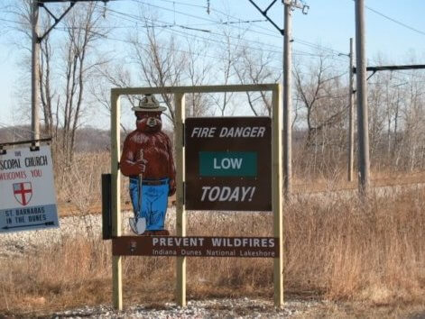 beverly-shores-fire-danger-sign