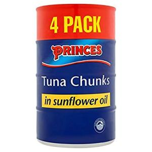 Princes Tuna Chunks in Sunflower Oil 4 Pack 4x160g