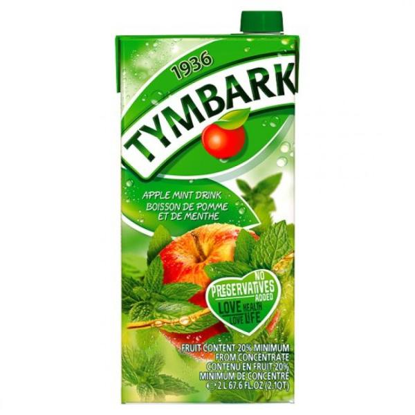 Tymbark Apple Mint Drink No Preservatives Added 2Lt