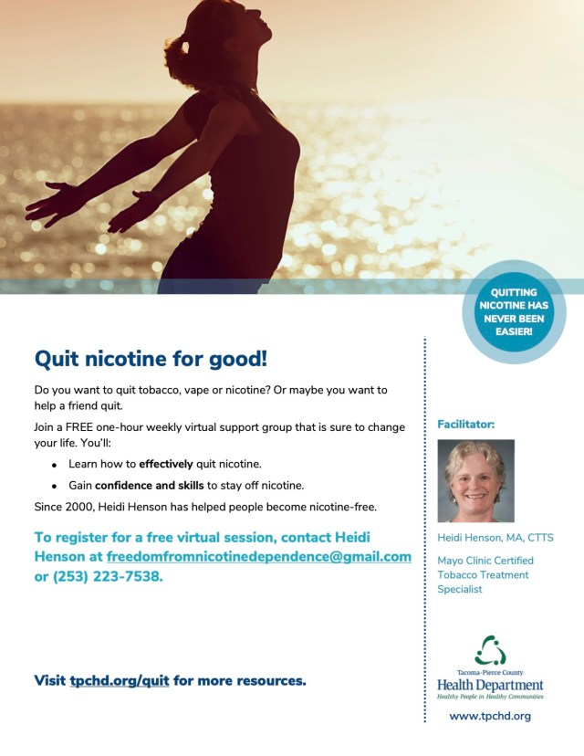Freedom from nicotine dependence 2021 flyer