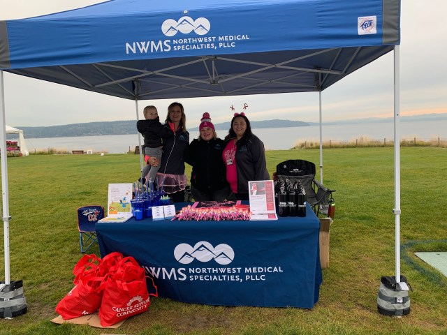 making strides against breast cancer event booth
